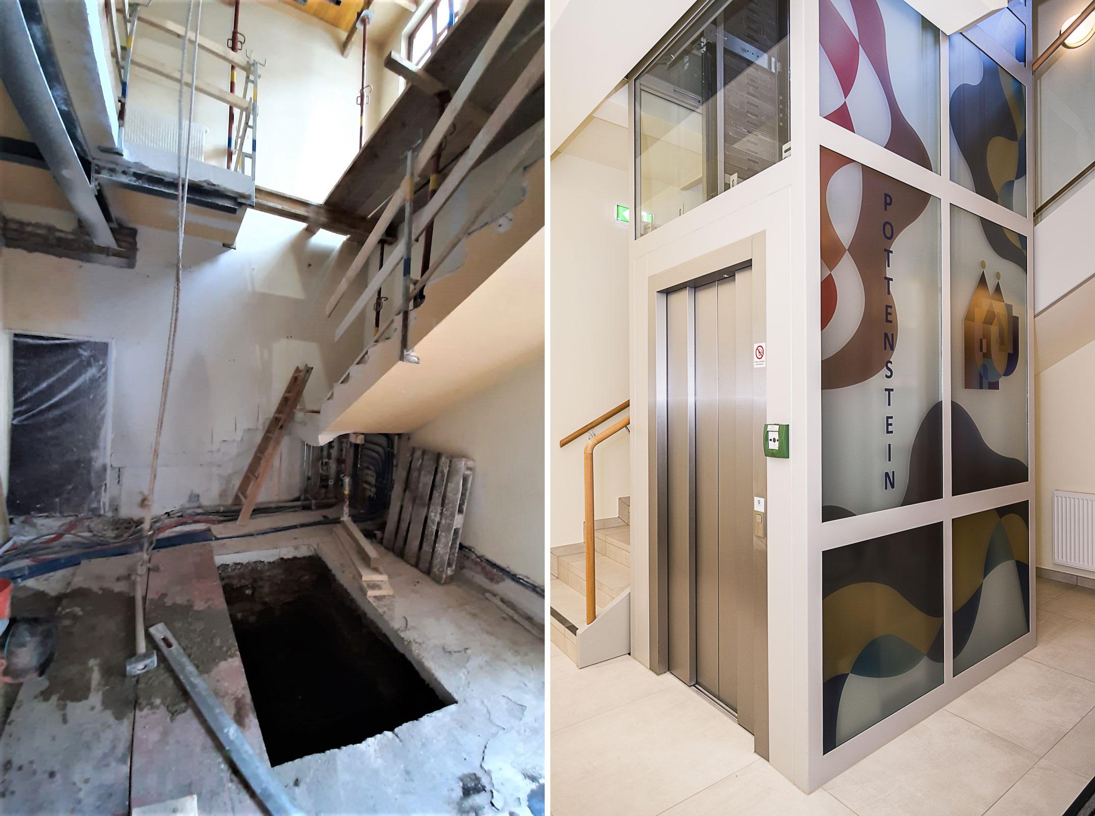 Sanierung-Rathaus-Pottenstein-Stiegenaufgang